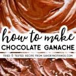 Chocolate Ganache Image Pin