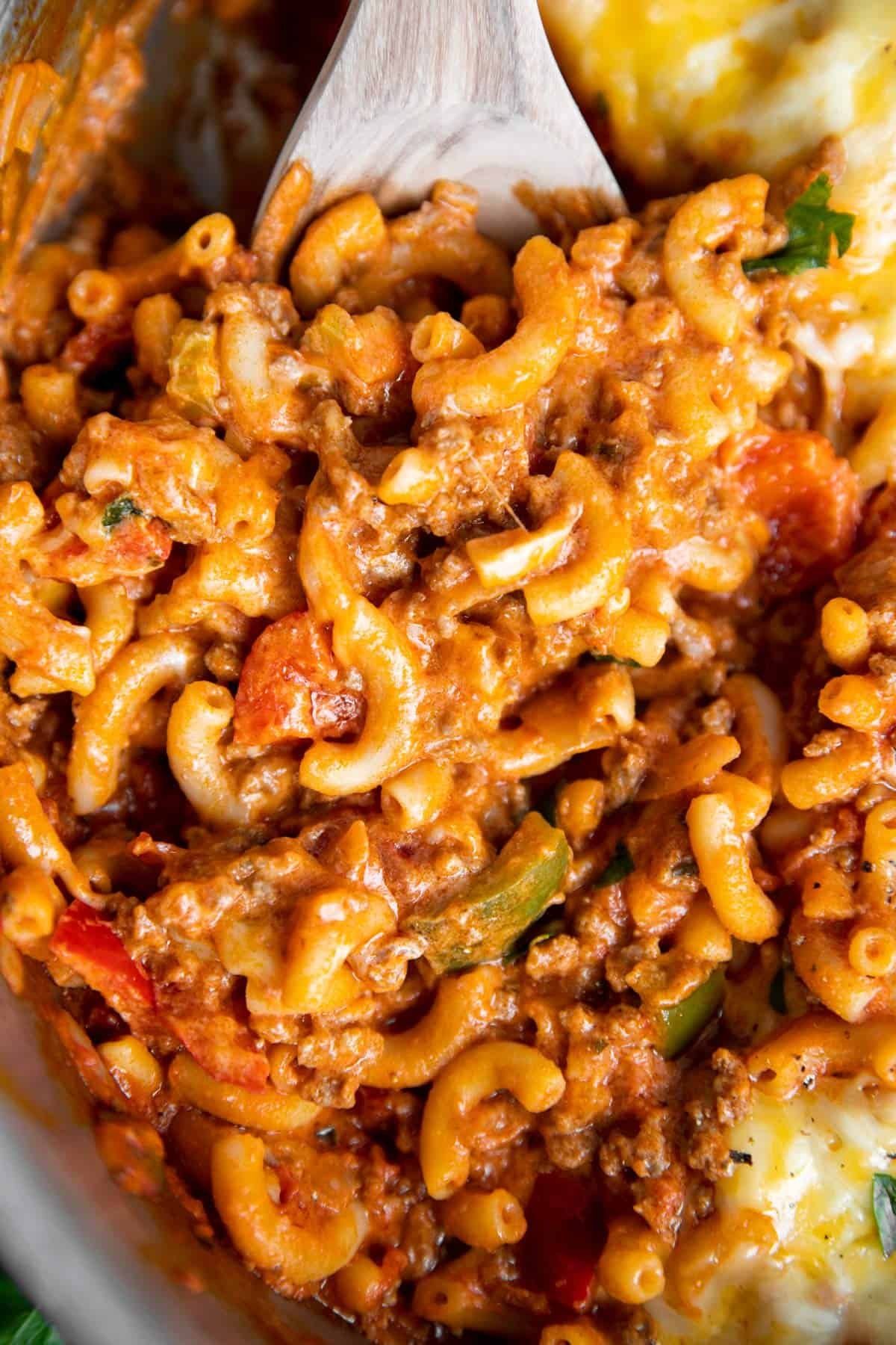 close up photo of American goulash