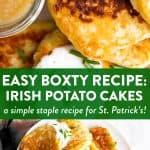 Boxty Potato Pancakes Image Pin
