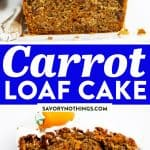 Carrot Cake Loaf Image Pin 1