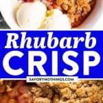 Rhubarb Crisp Image Pin