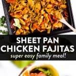 Sheet Pan Chicken Fajitas Image Pin