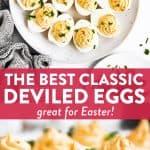 Classic Deviled Eggs Image Pin