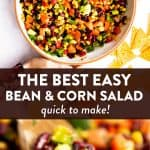 Mexican Bean Salad Image Pin