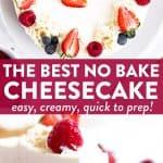 No Bake Cheesecake Image Pin