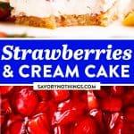 Fresh Strawberry Cake Image Pin