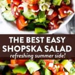 Shopska Salad Image Pin