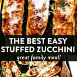 Stuffed Zucchini Boats Image Pin