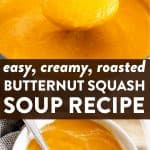 Roasted Butternut Squash Soup Image Pin