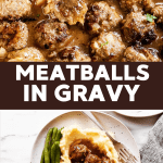 Meatballs and Gravy Image Pin