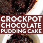 Slow Cooker Chocolate Pudding Cake Pin 1