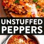 Unstuffed Pepper Skillet Pin 1