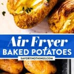Air Fryer Baked Potatoes Image Pin