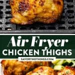 Air Fryer Chicken Thighs Image Pin