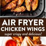 Air Fryer Chicken Wings Pin 1