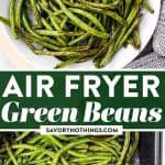 Air Fryer Green Beans Image Pin