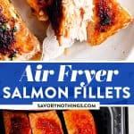 Air Fryer Salmon Image Pin