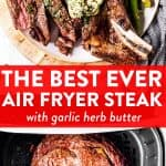 Air Fryer Steak Image Pin