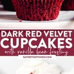 Red Velvet Cupcakes Image Pin 1