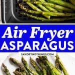 Air Fryer Asparagus Image Pin