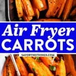 Air Fryer Carrots Image Pin