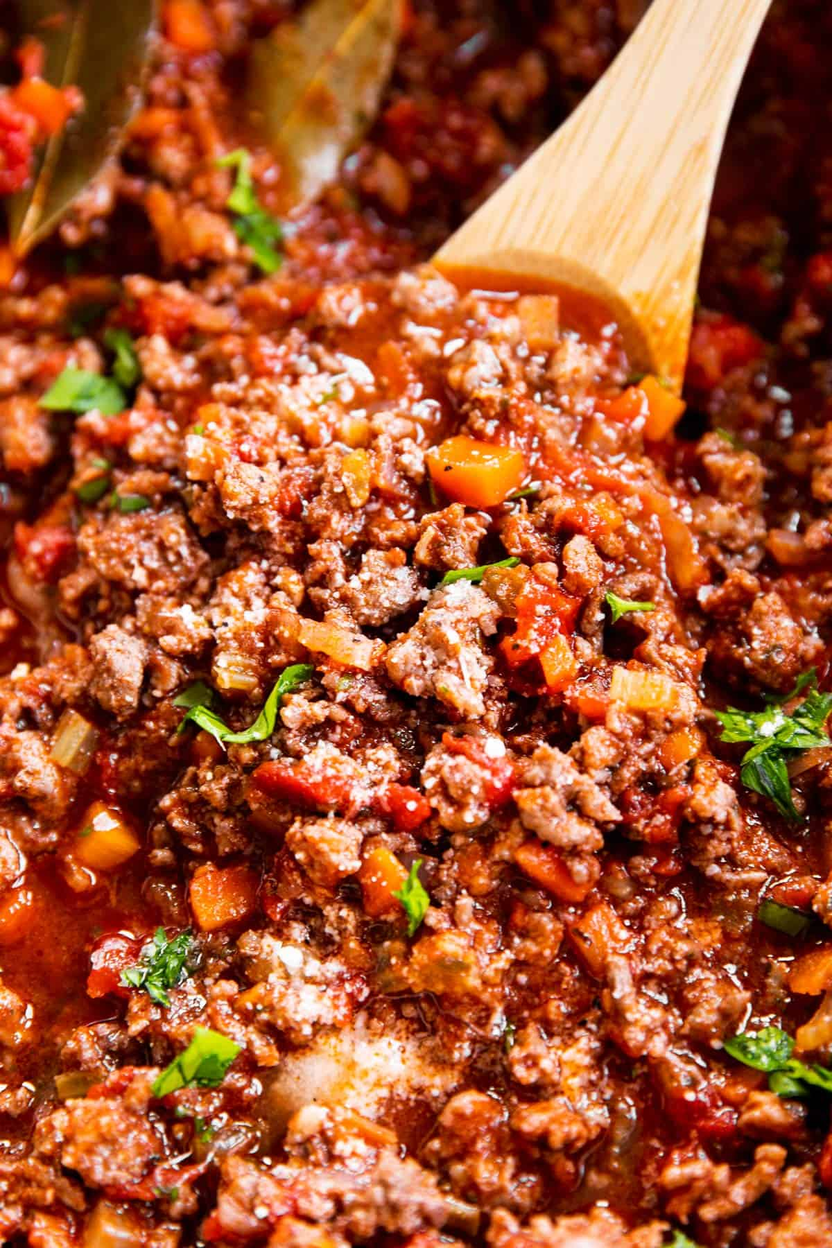 close up photo of Bolognese sauce