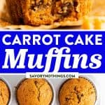 Carrot Muffins Image Pin
