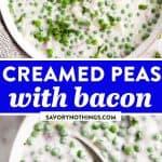 Creamed Peas Image Pin
