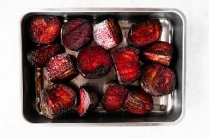 roasted beets in pan