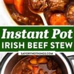 Instant Pot Irish Beef Stew Image Pin