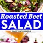 Roasted Beet Salad Image Pin