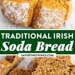 Traditional Irish Soda Bread Image Pin