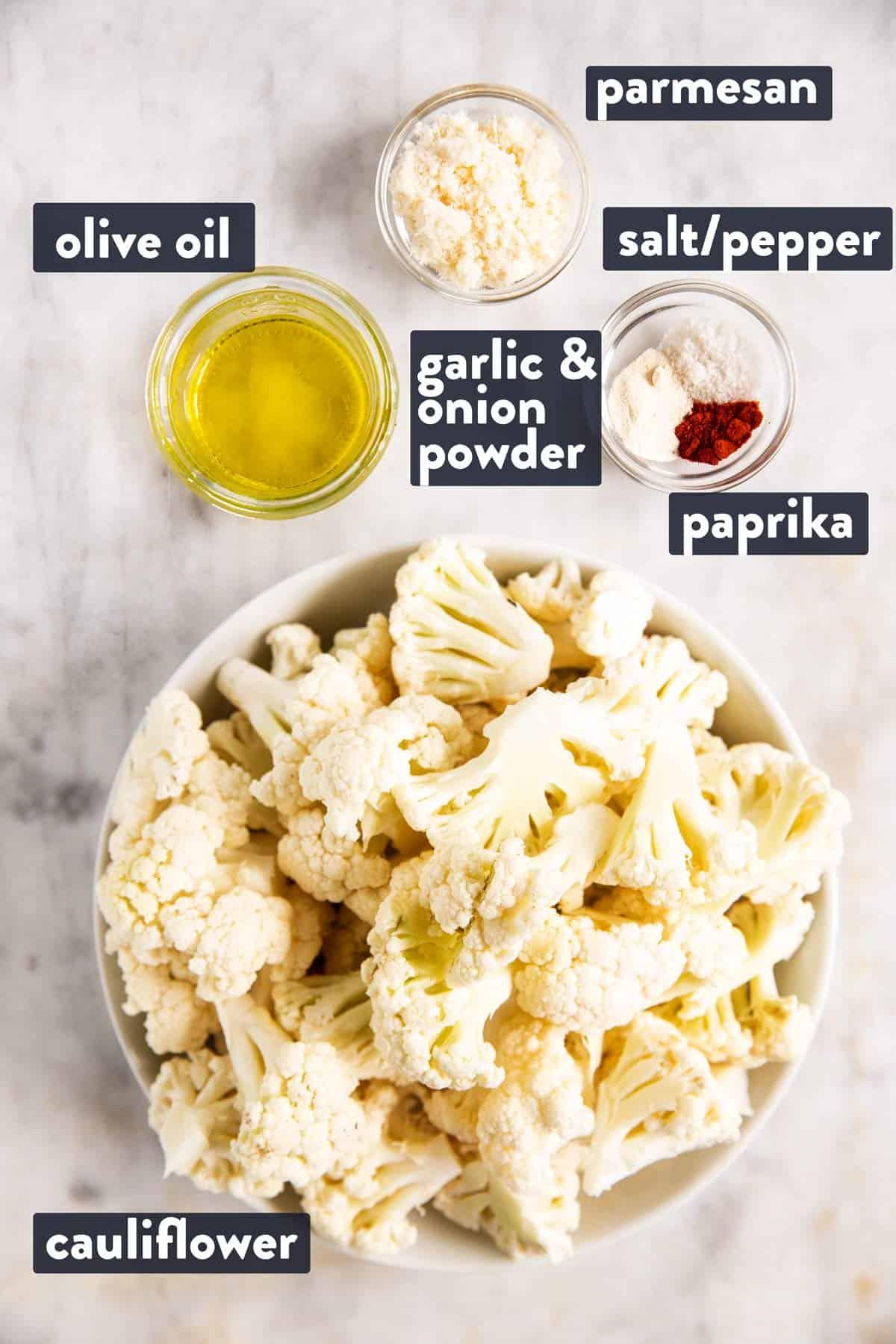 ingredients for air fryer cauliflower