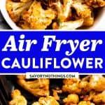 Air Fryer Cauliflower Image Pin 1