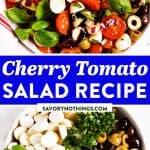 Cherry Tomato Salad Image Pin