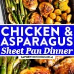 Chicken and Asparagus Sheet Pan Dinner Image Pin 2