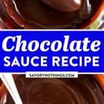 Chocolate Sauce Recipe Image Pin 1