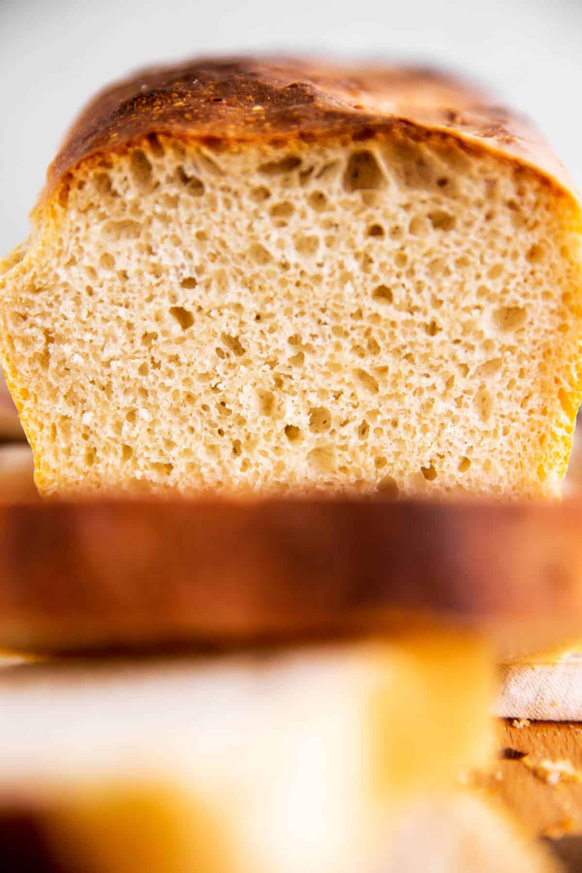 close up photo of sliced sourdough bread