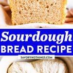 Easy Sourdough Bread Image Pin