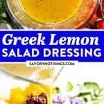 Greek Salad Dressing Image Pin 1