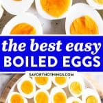 Hard Boiled Eggs Image Pin 1