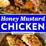 Honey Mustard Chicken with Bacon Image Pin