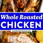 Whole Roasted Chicken Image Pin