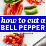 How to Cut a Bell Pepper Image Pin 1