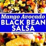 Mango Black Bean Salsa Image Pin 1