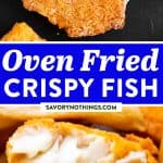 Oven Fried Fish Image Pin