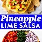 Pineapple Salsa Image Pin 1