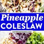 Pineapple Coleslaw Image Pin 1