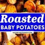 Roasted Baby Potatoes Image Pin
