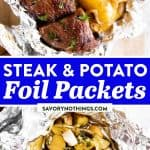 Steak and Potato Foil Packets Image Pin